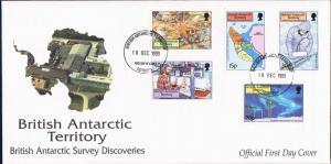 British Antarctic Territory Scott 280-284 Unaddressed.