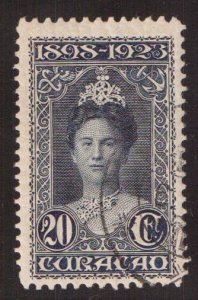 Netherlands Antilles  Curacao  #78a used  1923  Wilhelmina 20c  perf 11 x 11 1/2