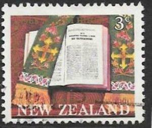NEW ZEALAND SG883 1968 MAORI BIBLE FINE USED