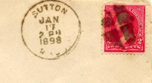 United States Massachusetts Sutton 1898 segmented cork  1811-1901.