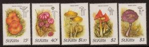 ST.KITTS SG241/5 1987 FUNGI MNH