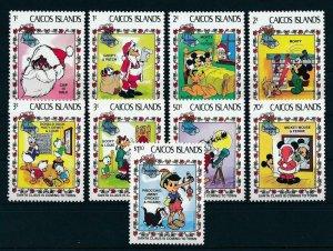 [22172] Caicos Islands 1983 Disney Characters Christmas scenes MNH