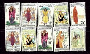 Tunisia 412-21 MNH 1962-63 Womens Regional Dress
