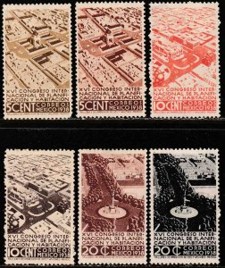 MEXICO 740-745, Planification Congress, COMPLETE SET. UNUSED, H OG. F-VF.