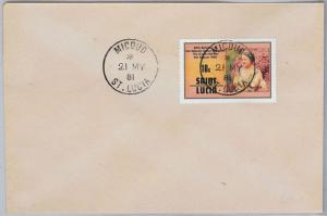 ST LUCIA -  POSTAL HISTORY - COVER with nice postmark: Micoud  1981