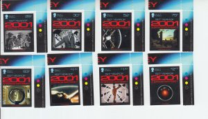2018  Isle of Man A Space Odyssey (8) (Scott 1949-56) MNH
