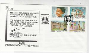 Namibia 1993SOS Childrens Village Care Windhoek Cancels Stamps Cover Ref 23466