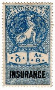 (I.B) Burma Revenue : Insurance 8a