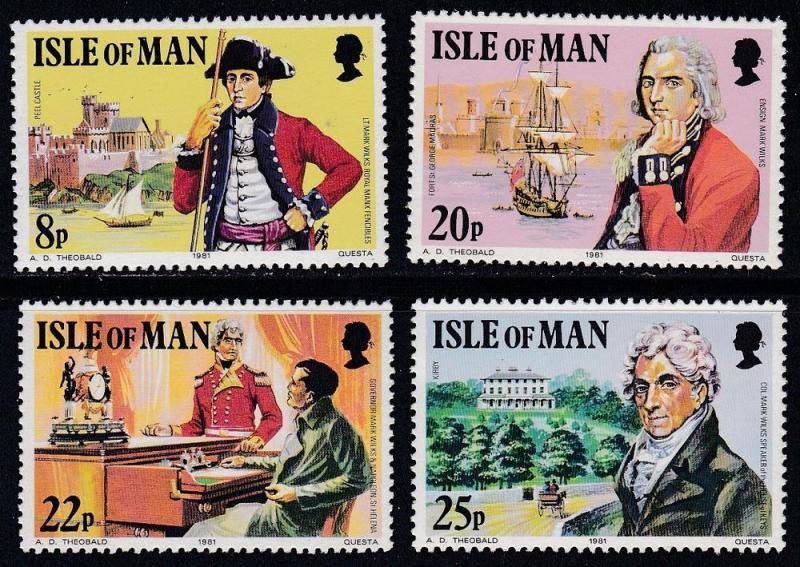 Isle Of Man MNH 193-6 Captain Mark Wilks Ships
