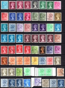 1971-90 Harrisons In Photogravure With Phosphor Bands short set of 40 Used