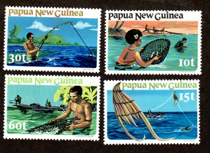 Papua New Guinea MNH 545-8 Fishing Culture 1981