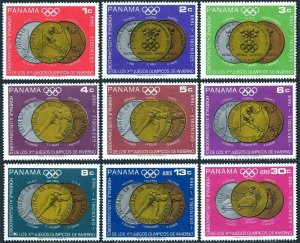 Panama 487-487H,MNH.Michel 1077-1085. Olympics Grenoble-1968.Medals-Winners.