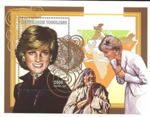 STAMP STATION PERTH Togo #1799 YTBF316A MNH S/S CV$11 Princess Diana/Mother Ther