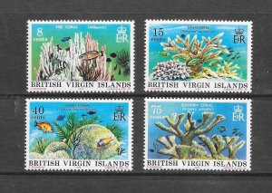 FISH & CORAL - BRITISH VIRGIN ISLANDS #333-6  MNH