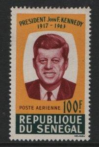 SENEGAL, C40, HINGE REMNANT, 1964, PRES JOHN F KENNEDY