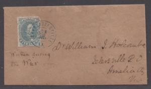 **CSA Cover, SC# 4, Charlottesville, VA, 6/12/1862