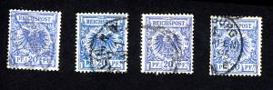 Germany 49 Used (4 Different Colors)