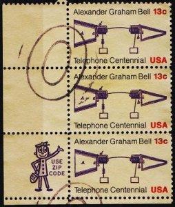 U.S.A. 1976 13c(Strip of 3) S.G.1663 Fine Used