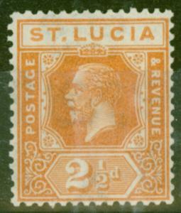 St Lucia 1925 2 1/2d Orange SG97 Fine MNH