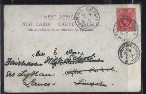SOUTHERN NIGERIA  (P3004B)  KE 1D ON PC TO ENGLAND  1911
