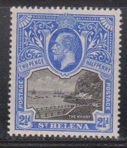 ST HELENA Scott # 65 MH - King George V & The Wharf
