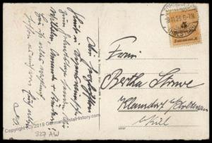 Germany High Inflation Cover Nov 19 1923 Mi327AW Last Day Rate 72333