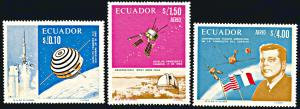 Ecuador 756-756B, MNH, French-American Space Cooperation