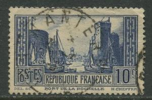 France - Scott 252 - General Issue -1929 - Used -Single 10fr Stamp
