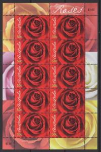 AUSTRALIA SG2587 2006 ROSES SHEETLET MNH