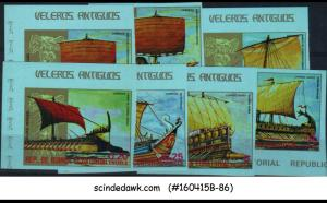 EQUATORIAL GUINEA - 1978 ANCIENT SHIPS / BOATS - 7V - MINT NH IMPERF!!!