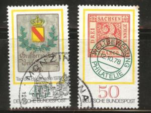 Germany Scott 1281-1282 Used 1978 stamp set