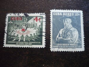 Stamps - Cuba - Scott# 565,C152 - Mint Hinged & Used Set of 2 Stamps
