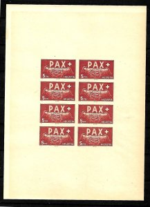 SWITZERLAND STAMPS 1945, END OF WAR IN EUROPA. Sc.#304. PROOF, MNH