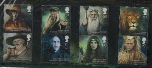 Great Britain Sc 2875-82 2011 Fictional Wizards stamp set mint NH