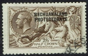 BECHUANALAND 1913 KGV SEAHORSES 2/6 DLR PRINTING USED