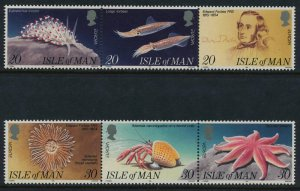 Isle of Man - 1994 ,Europa Marine life MNH set # 594-599