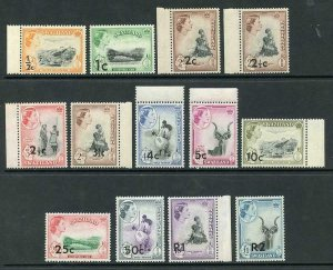 Swaziland SG65/77a Set of 13 U/M Cat 60 Pounds