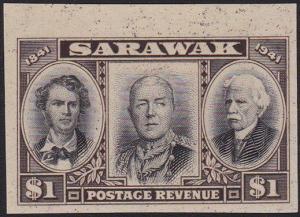 SARAWAK 1946 Centenary $1 IMPERFORATE PROOF ...............................70264