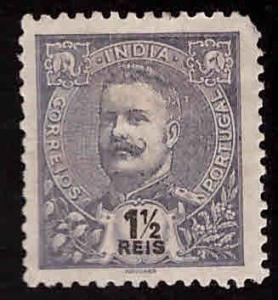 Portuguese India Scott 199 MH* King Carlso stamp corner problem