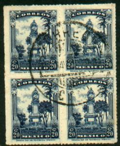 MEXICO 640, 20c Used Block of Four (596)