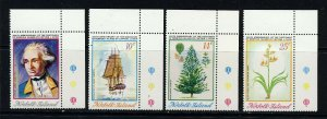NORFOLK ISLAND 1974 Captain Cook Bicentenary Set 4th. Issue SG 152 to SG 155 MNH