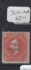 SARAWAK  (P2704B) BROOKE  2C/12C  SG33   NGAI