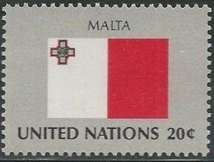 United Nations 354 New York Malta Flag 20c single MNH 1981