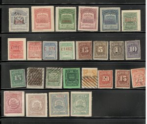 US TELEGRAPH REVENUE STAMP COLLECTION