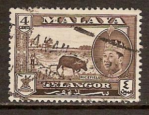 Malaya-Selangor  #116  used  (1961)