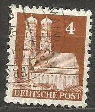 GERMANY, 1948, used 4pf, Munich Scott 635
