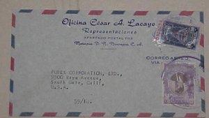 NICARAGUA  50cents TELEGRAPH 1965 MANAGUA TO USA