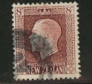 New Zealand Scott 157 used KGV CV$4 1922