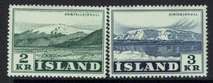 Iceland SC# 302 - 303 - Mint Light Hinged - 030517