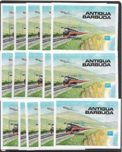 Antigua 938 Train MNH s/s x 15 vf, 2022 CV $120.00